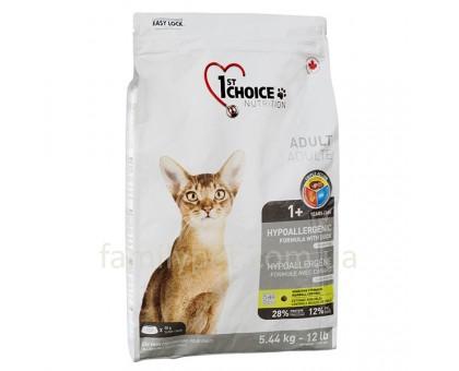 1st Choice Adult Hypoallergenic Корм для котов гипоаллергенный с уткой и картошкой