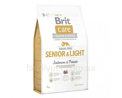 Brit  Care GF Senior & Light Salmon & Potato