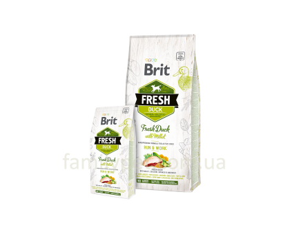 Brit Fresh Duck,Millet Active Run & Work 2,5 kg
