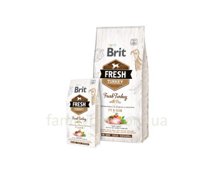 Brit Fresh Turkey,Pea Light Fit & Slim Adult 2,5 kg