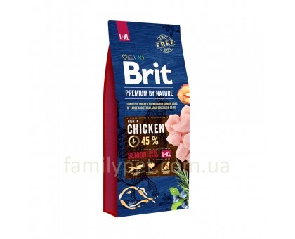 Brit Premium Dog Senior L+XL