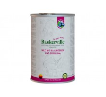 Baskerville Sensitive Wild Mit Blaubeeren und Spirulina Консервы для собак с олениной и черникой