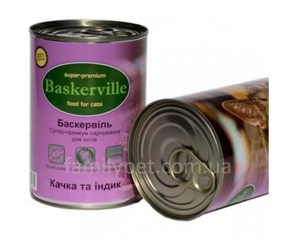 Baskerville Корм для кошек утка и индейка
