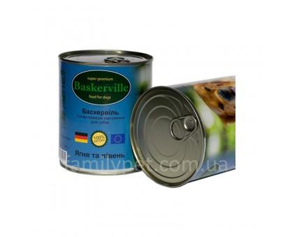 Baskerville Консервы для собак ягненок и петух