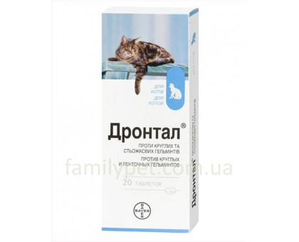 Bayer Drontal Таблетки от глистов для кошек
