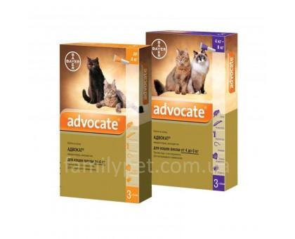 Bayer Advocate Капли для котов от блох и клещей