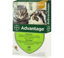 Bayer Advantage Капли для кошек  от блох и клещей