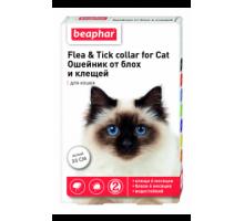 Beaphar Ошейник для кошек от блох и клещей белый 35 см