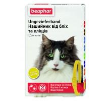 Beaphar Ошейник для кошек от блох и клещей желтый 35 см