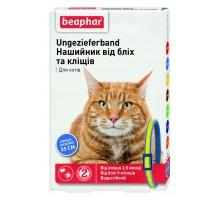 Beaphar Ошейник  для кошек от блох и клещей сине-желтый 35 см