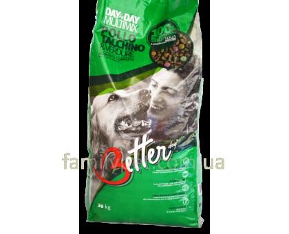 Better MULTIMIX Сухой корм для взрослых собак курица и индейка с овощами
