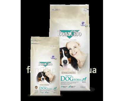 BonaCibo (БонаСибо) Adult Dog Form - Сухой корм с мясом курицы, анчоусами и рисом для взрослых собак с лишним весом и для стареющих собак
