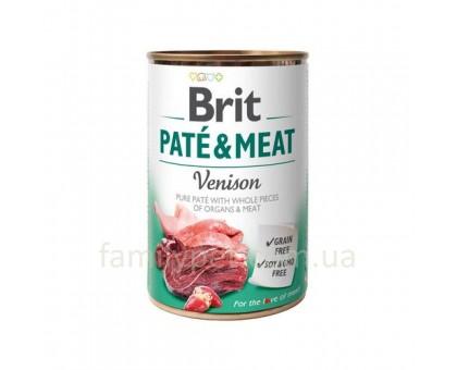 Brit Paté & Meat Dog Консерва для собак с олениной 400 гр