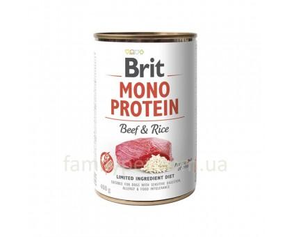 Brit Mono Protein Dog Консервы для собак с говядиной и бурым рисом 400 г