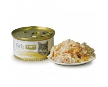 Brit Care Cat Консервы для кошек с курицей и сыром 80 г