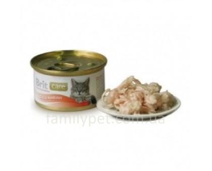 Brit Care Cat Консервы для кошек с куриной грудкой 80 г