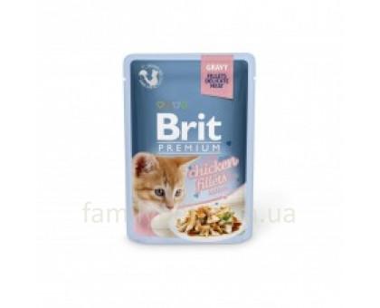 Brit Premium Cat pouch Консервы для котят с курицей 85 г