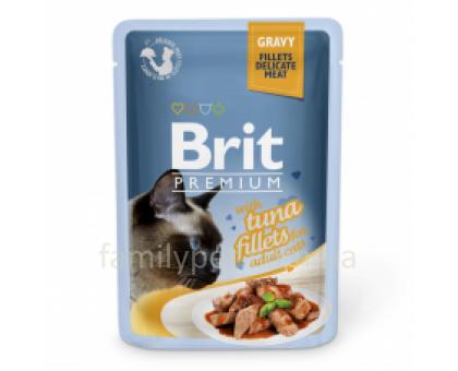 Brit Premium Cat pouch Консервы для кошек с филе тунца в соусе 85 г