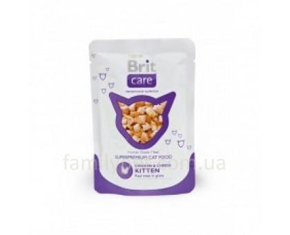 Brit Care Cat Консервы для котят с курицей и сыром 80 г