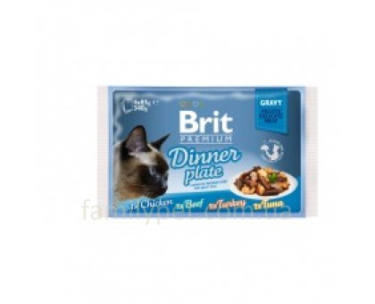 Brit Premium Cat pouch Обеденная тарелка в соусе 4 шт