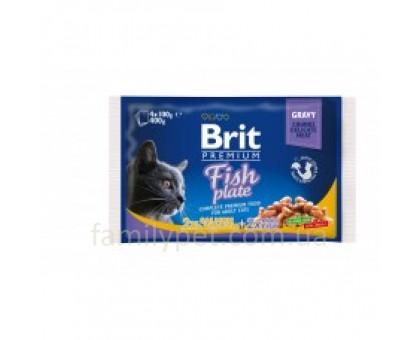 Brit Premium Cat pouch Рыбная тарелка 4 шт