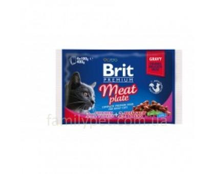 Brit Premium Cat pouch Мясная тарелка 4 шт