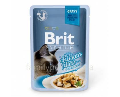 Brit Premium Cat pouch Консервы для кошек с куриным филе в соусе 85 г