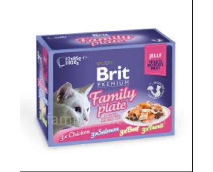 Brit Premium Cat pouch Семейная тарелка в желе