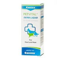 Canina PETVITAL Derm-Liguid Тоник для проблемной шерсти и кожи у собак и кошек 25 мл