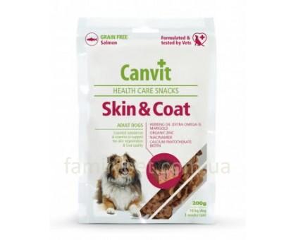 Canvit Skin and Coat Полувлажное лакомство  для собак 200г