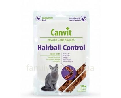 Canvit Hairball Control Полувлажное лакомство для котов 100г