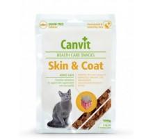 Canvit Skin and Coat Полувлажное лакомство для котов 100г