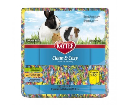 Kaytee Clean&Cozy BirthdayCake Подстилка для грызунов целлюлоза разноцветная