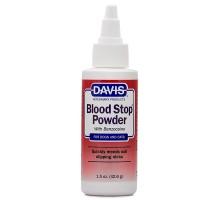 Davis Blood Stop Powder Кровоостанавливающий порошок с бензокаином для собак и котов 43 г