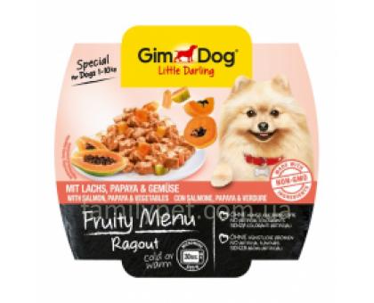 GimDog LD  Fruity Menu Консервы для собак рагу с ягненком, абрикосом и овощами 100 г
