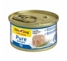 GimDog LD Pure Delight Консервы для собак с тунцом 85 г