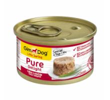 GimDog LD Pure Delight Консервы для собак с говядиной и тунцом 85 г