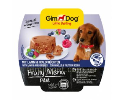 GimDog LD Fruity Menu Консервы для собак паштет с ягненком и лесными ягодами 100 г