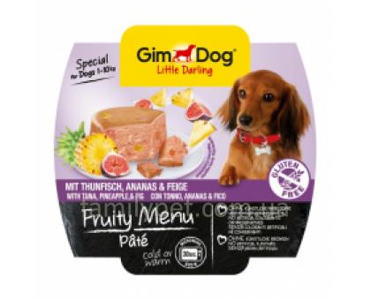 GimDog LD Fruity Menu Консервы для собак паштет с тунцом, инжиром и ананасом 100 г