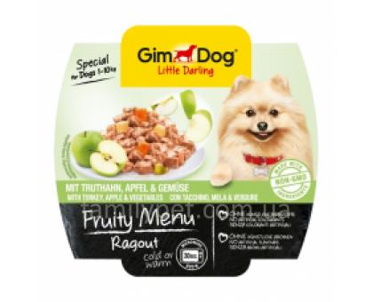GimDog LD Fruity Menu Консервы для собак рагу с индейкой, яблоками и овощами 100 г