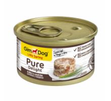 GimDog LD Pure Delight Консервы для собак с курицей и говядиной 85 г