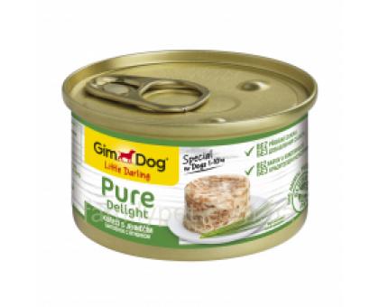 GimDog LD Pure Delight Консервы для собак курица с ягненком 85 г