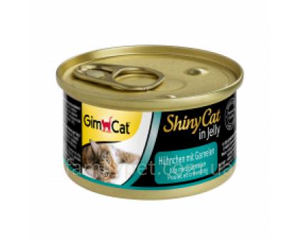 Shiny Cat  Консервы для кошек с курицей и креветками 70 г