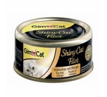 Shiny Cat Filet Консервы для кошек с курицей и манго 70 г