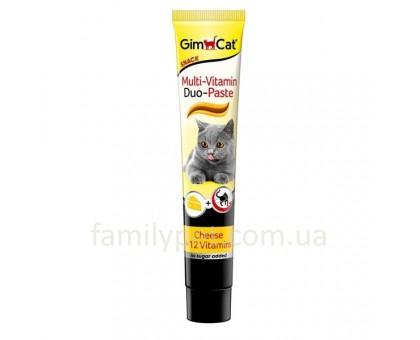 GimCat DUO Мультивитаминная паста с сыром