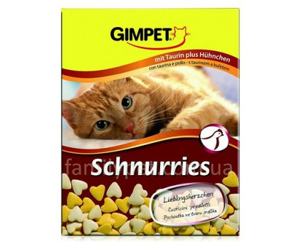 Gimpet Schnurries Витамины с курицей и таурином 650 таблеток