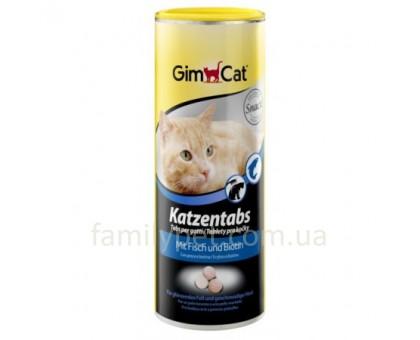 GimCat Katzentabs Витамины для кошек с рыбой и биотином 710 таблеток