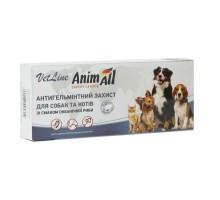 AnimAll VetLine антигельминтная защита для кошек и собак (50 таб)