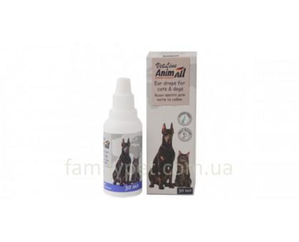 AnimAll VetLine Ушные капли для кошек и собак 30 мл