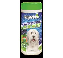 ESPREE Blueberry Bliss Wipes Влажные салфетки с ароматом алое и черники 50 шт